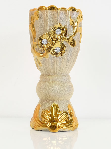 Bakhoor Burner - Ceramic - Gold Flowers - Islamic Impressions