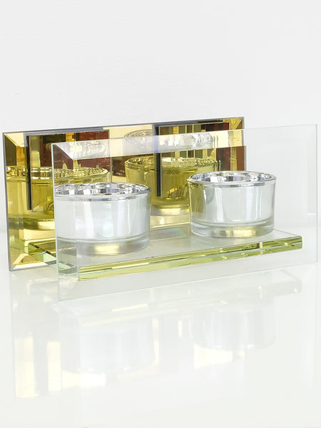 Bakhoor Burner - Double - Glass - Islamic Impressions