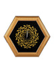 Hexagonal Framed Wall Clock