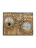 Kaabah and Masjid Nabwi Frame - Gold 3D in Circles - Islamic Impressions