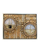 Kaabah and Masjid Nabwi Frame - Gold 3D in Circles