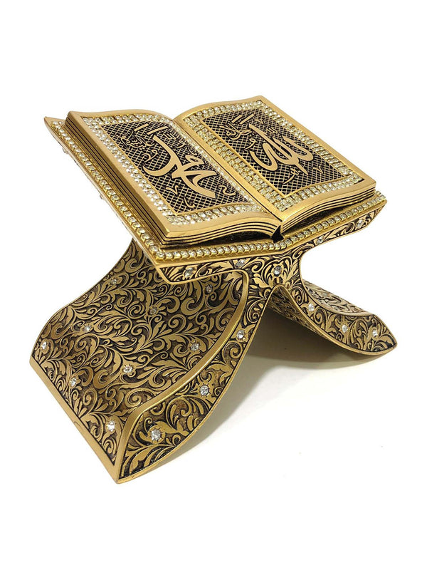 Ornament Stand - Rehal Shape Allah and Muhammad (0033)