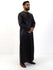 Omani Four Button Thobe - Contrast V Design - Full Sleeve - Islamic Impressions