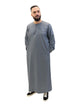 Islamic Impressions Men's Omani Thobe - Long Sleeve - Chequered V Design