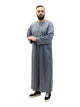 Islamic Impressions Men's Silky Thobe With Zip - Full Sleeve