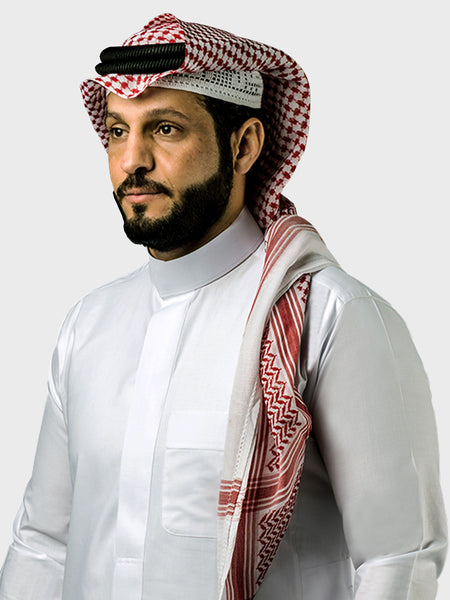 Genuine Al Aseel Saudi Thobe With Collar - Full Sleeve - White (Hidden Buttons) - Islamic Impressions