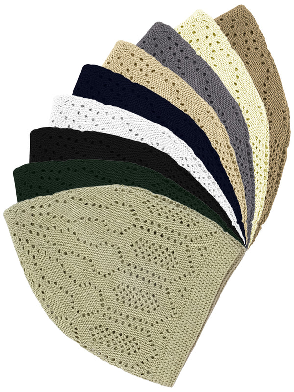 Mens Cotton Mercan Prayer Hat - One Size - Islamic Impressions