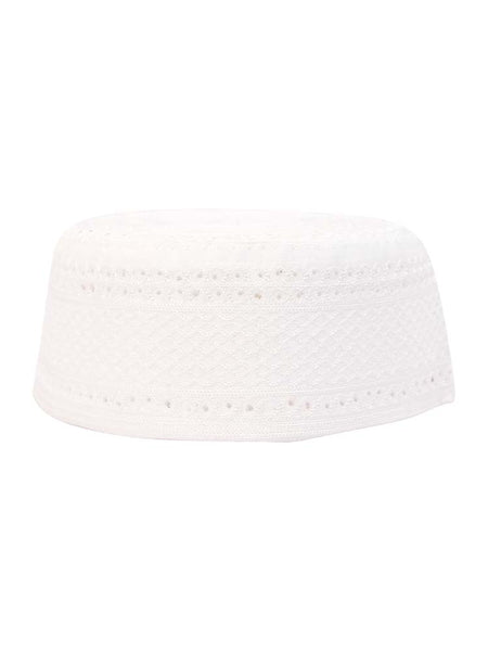 Men's White Prayer Hat - Islamic Impressions