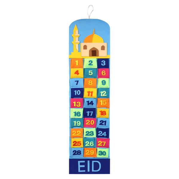 Childrens Advent Calendar For Ramadan - Soft Material With Pockets - Islamic Impressions