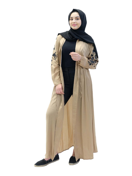 Black Stone Embroided Abaya - Islamic Impressions