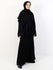 Womens Open Overcoat Abaya - Black With Paisley Design - Islamic Impressions