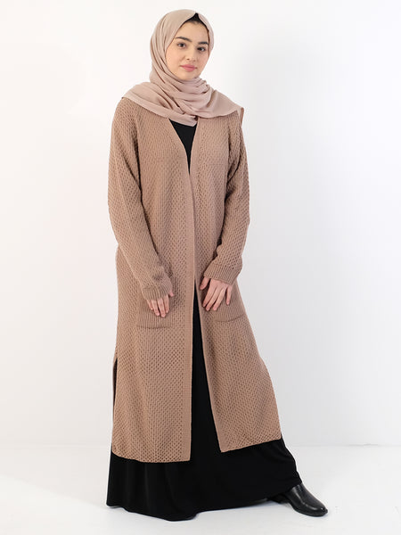 Womens Long Thick Cardigan - One Size - Islamic Impressions