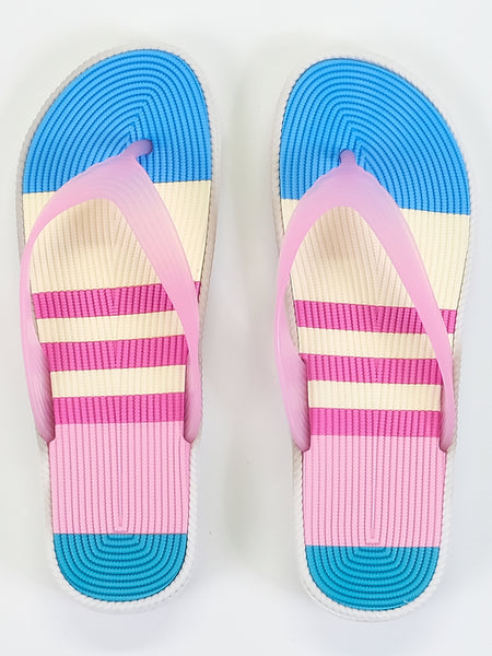 Women's Slippers - Multicolour - Stripes - Islamic Impressions