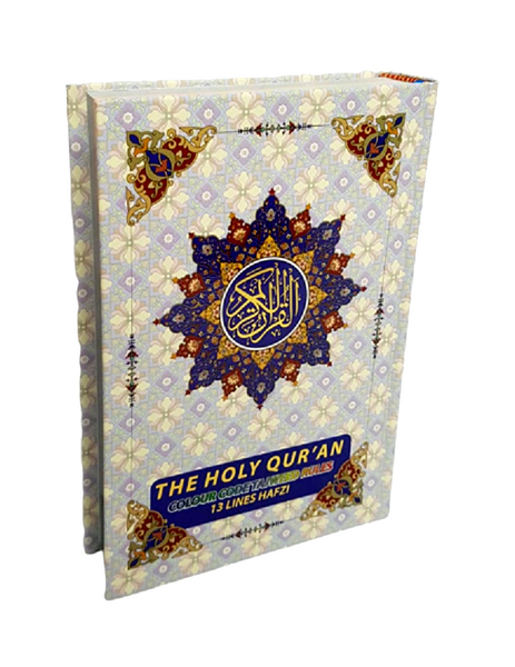 The Holy Quran - 13 Lines Colour Coded Tajweed Rules (Indo Pak Script) ~A5 Size - Islamic Impressions
