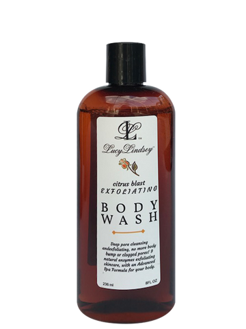 Citrus Blast Exfoliating body wash, Improved formula!  *Your Citrus body wash will arrive in 2, 4 oz pump bottles. Because of the Covid-19 situation the 8oz bottles are back ordered. Thank you for your patience.