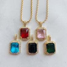 Load image into Gallery viewer, GEMSTONE CZ NECKLACE