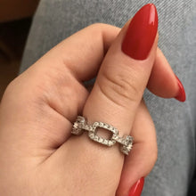 Load image into Gallery viewer, PAVE CHAIN RING