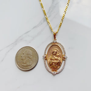 HOLY MARY & JESUS NECKLACE