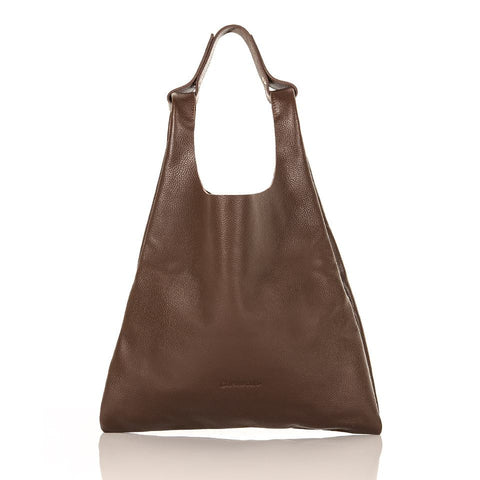 Handy Leather Bag > Coffee Brown