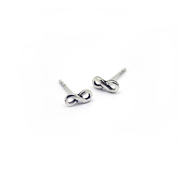 Silver Infinity Stud Earrings > 401