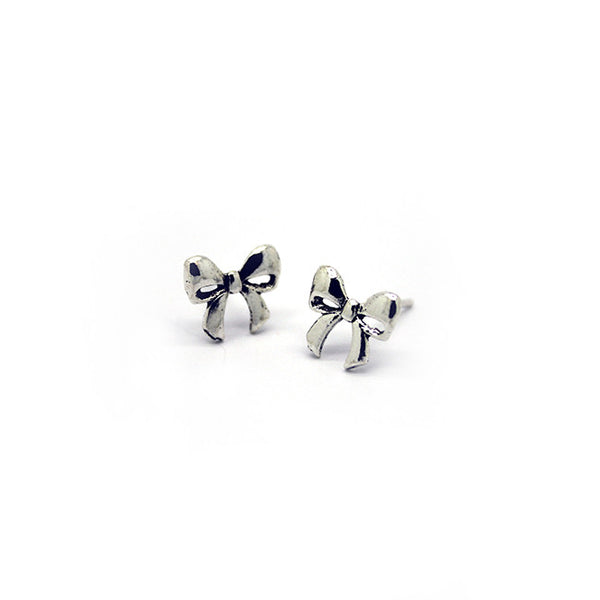 Silver Chunky Stud Earrings > 406