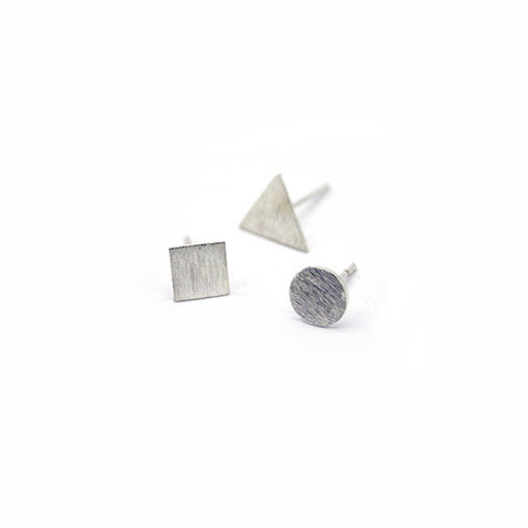 Silver Shapes Combo Stud Earrings > 408/9/10