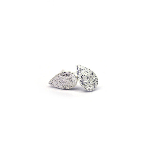 Silver Raindrop Stud Earrings > 416