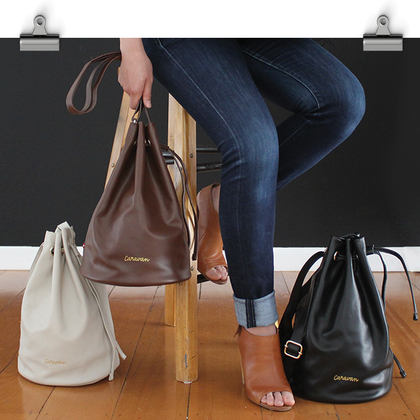 Gypsy Leather Bag > Off White, Brown or Rich Black
