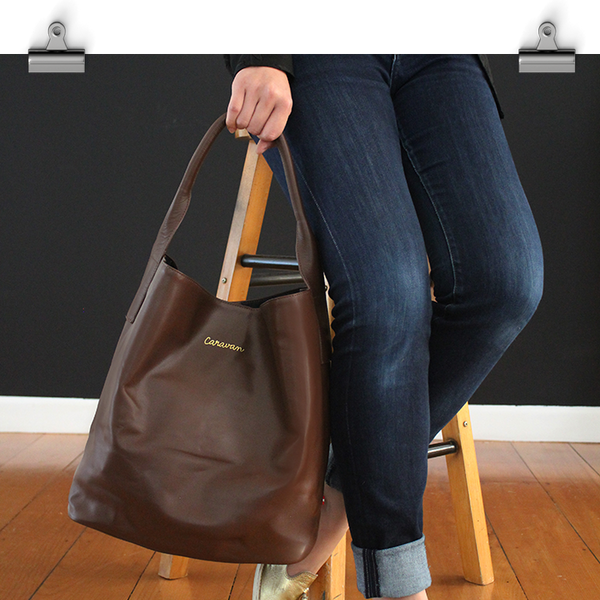 Hampton Leather Bag > Brown