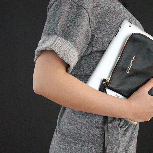Little Leather Purse > Carrot Orange, Brown, Off White or Black