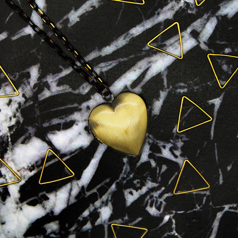 1505 Small Heart Locket Necklace