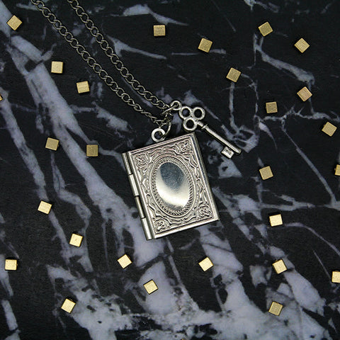 1525 Key & Book Locket Necklace