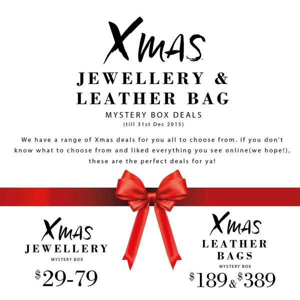Xmas Leather Bags Mystery Box $189