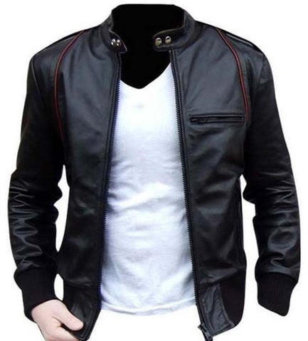 Black Leather Jacket For Bikers