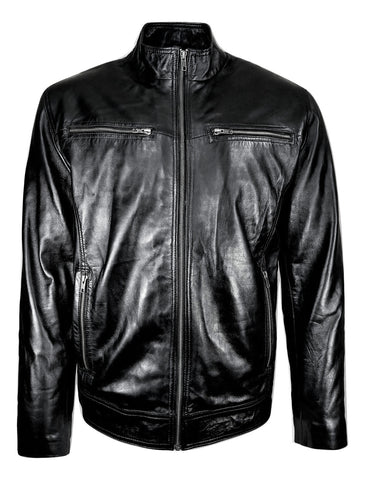STRAIGHT CUT MEN'S PURE LEATHER JACKET