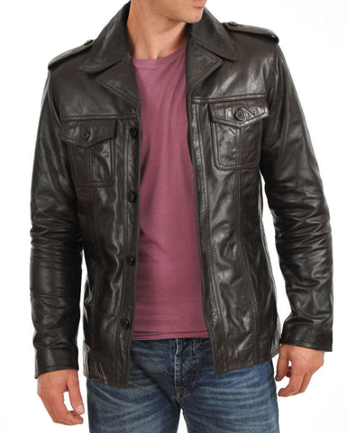 Stylish Men's Quilted Leather Jacket
