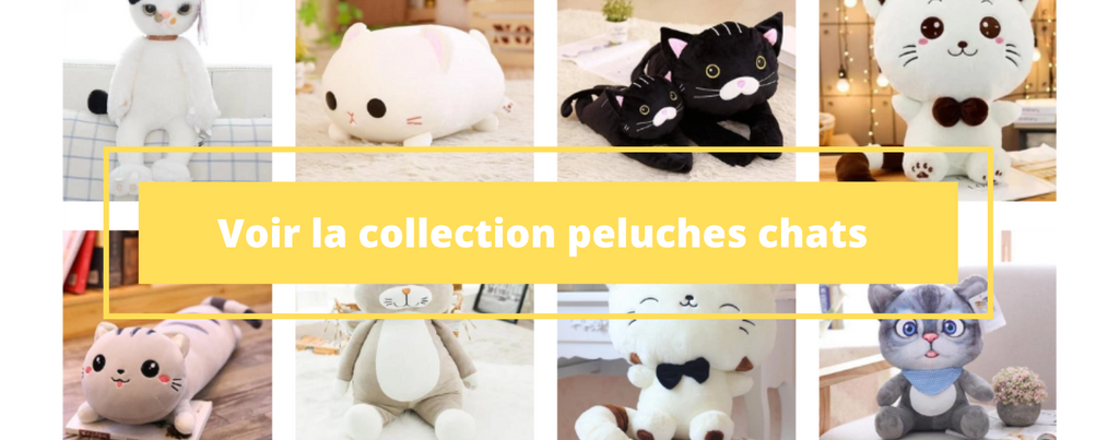 Collection peluches chats