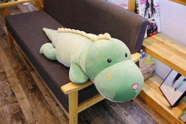 Peluche dinosaure long corps