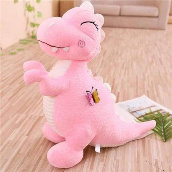 Peluche dinosaure cartoon rose