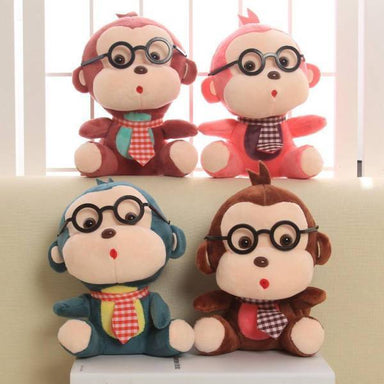 Peluche singe lunette | Peluches Animaux