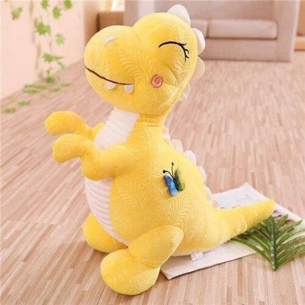 Peluche dinosaure cartoon jaune