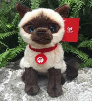 Peluche chat siamois