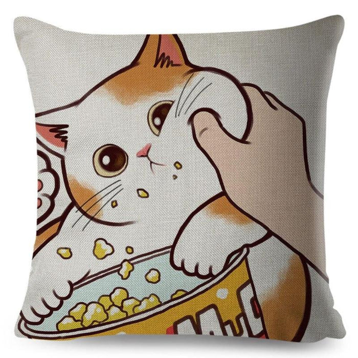 Coussin chat grand confort