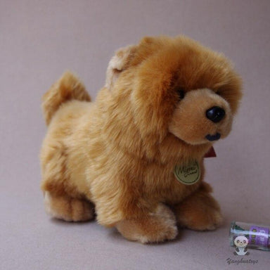 Peluche chien chow chow