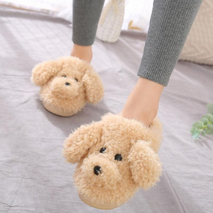 Chaussons chien caniche