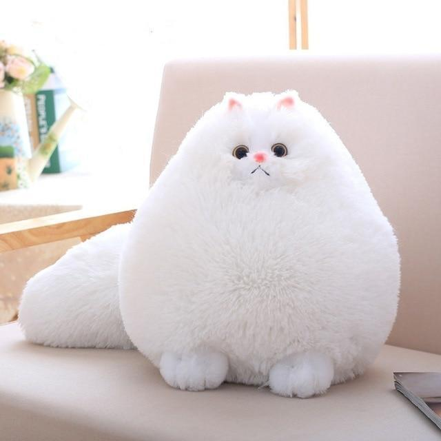 Peluche chat persan coussin