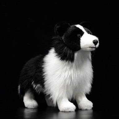 Peluche chien border collie