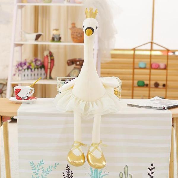 Peluche flamant-rose blanc