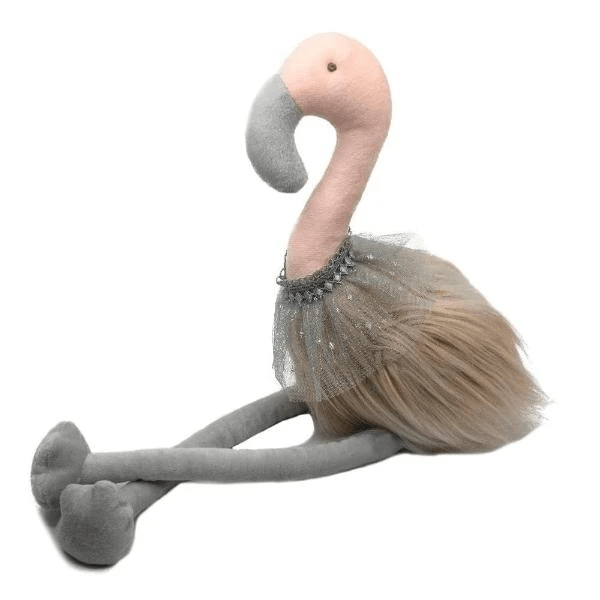 Peluche flamant rose luxe