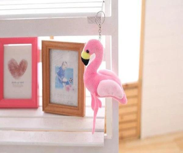 Peluche flamant rose petite taille